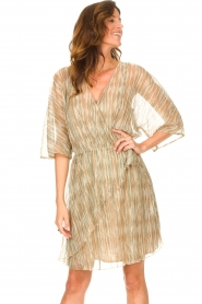 Dante 6 |  Ruffle dress with lurex Cadya | metallic  | Picture 5