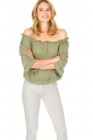 Patrizia Pepe | Blouse Maglia | groen  | Afbeelding 4