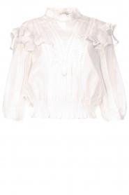 IRO |  Ruffle blouse Hysteria | white  | Picture 1