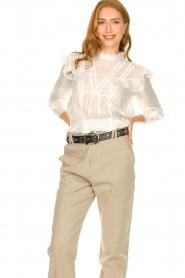 IRO |  Ruffle blouse Hysteria | white  | Picture 4