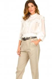 IRO    Ruffle blouse Hysteria   white    Picture 4