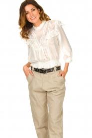 IRO    Ruffle blouse Hysteria   white    Picture 2