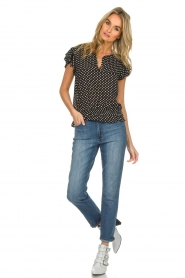 Lolly's Laundry |  Polkadot top Paola | black  | Picture 3