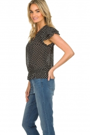 Lolly's Laundry |  Polkadot top Paola | black  | Picture 4