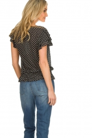 Lolly's Laundry |  Polkadot top Paola | black  | Picture 5