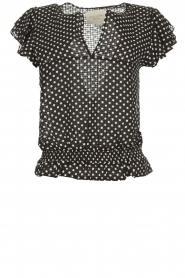 Lolly's Laundry |  Polkadot top Paola | black  | Picture 1
