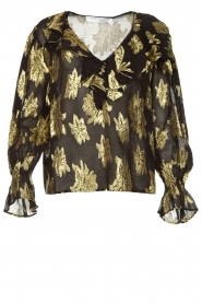 IRO |  Blouse with lurex florals Labra | black  | Picture 1
