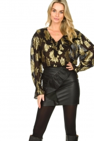 IRO |  Blouse with lurex florals Labra | black  | Picture 2