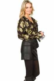 IRO |  Blouse with lurex florals Labra | black  | Picture 5