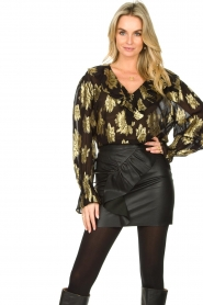 IRO |  Blouse with lurex florals Labra | black  | Picture 4
