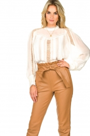 IRO |  Blouse with lace Ease | white  | Picture 5