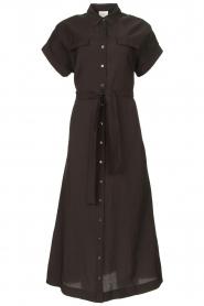 Dante 6 |  Midi button through dress Romy | black  | Picture 1