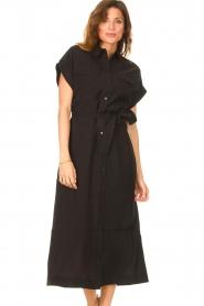 Dante 6 |  Midi button through dress Romy | black  | Picture 2