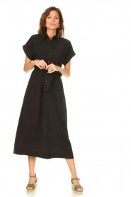 Dante 6 |  Midi button through dress Romy | black  | Picture 3