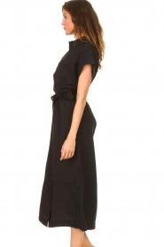 Dante 6 |  Midi button through dress Romy | black  | Picture 6