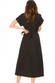 Dante 6 |  Midi button through dress Romy | black  | Picture 7