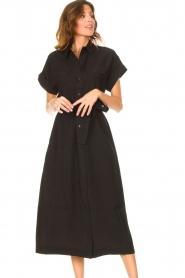 Dante 6 |  Midi button through dress Romy | black  | Picture 5