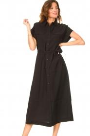 Dante 6 |  Midi button through dress Romy | black  | Picture 4