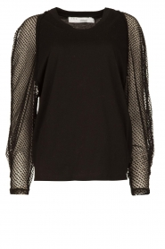 IRO | Top with see-through sleeves Jacky | black  | Picture 1