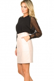 IRO | Top with see-through sleeves Jacky | black  | Picture 5