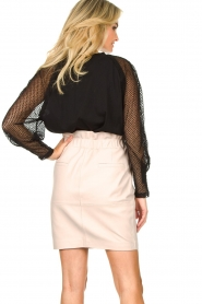 IRO | Top with see-through sleeves Jacky | black  | Picture 7