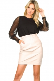 IRO | Top with see-through sleeves Jacky | black  | Picture 2
