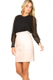 IRO | Top with see-through sleeves Jacky | black  | Picture 4