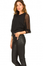 IRO : Top with see-through sleeves Jacky | black - img5