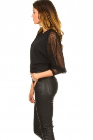 IRO : Top with see-through sleeves Jacky | black - img6