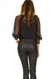 IRO : Top with see-through sleeves Jacky | black - img7