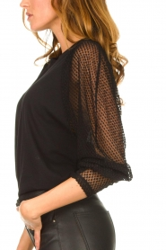 IRO : Top with see-through sleeves Jacky | black - img8