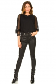 IRO : Top with see-through sleeves Jacky | black - img3