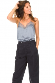 Dante 6 |  Cami top with lace details Moanna | blue  | Picture 2