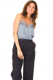 Dante 6 |  Cami top with lace details Moanna | blue  | Picture 4