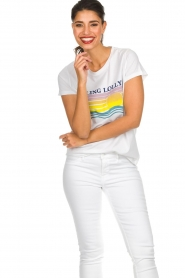 Lolly's Laundry |  Printed T-shirt Roma | white  | Picture 4