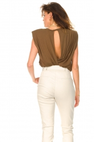 Dante 6 |  Basic top with open back Danthon | green  | Picture 7