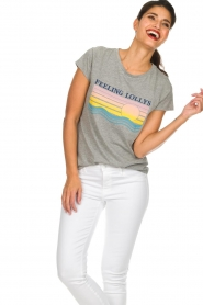 Lolly's Laundry |  Printed T-shirt Roma | grey  | Picture 2