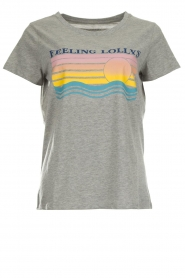 Lolly's Laundry |  Printed T-shirt Roma | grey  | Picture 1