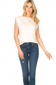 Dante 6 |  Basic top with open back Danthon | white  | Picture 2