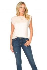Dante 6 |  Basic top with open back Danthon | white  | Picture 4