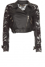 Patrizia Pepe |  Biker jacket Shirelle | black  | Picture 1