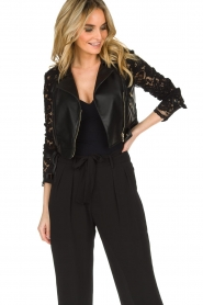 Patrizia Pepe |  Biker jacket Shirelle | black  | Picture 5