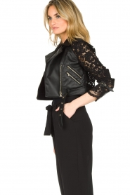 Patrizia Pepe |  Biker jacket Shirelle | black  | Picture 6