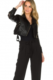 Patrizia Pepe |  Biker jacket Shirelle | black  | Picture 4