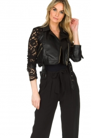 Patrizia Pepe |  Biker jacket Shirelle | black  | Picture 2