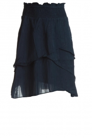 Lolly's Laundry |  Ruffle skirt with lurex stripes Ruth | blue  | Picture 1