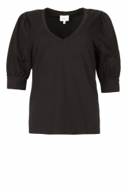 Dante 6 |  Top with puff sleeves Optimist | black  | Picture 1