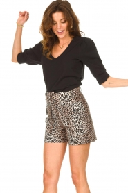 Dante 6 |  Top with puff sleeves Optimist | black  | Picture 4
