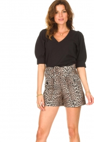 Dante 6 |  Top with puff sleeves Optimist | black  | Picture 2