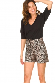 Dante 6 |  Top with puff sleeves Optimist | black  | Picture 5